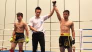 深圳散打拳击协会20届自由搏击锦标赛冠军小朱视频